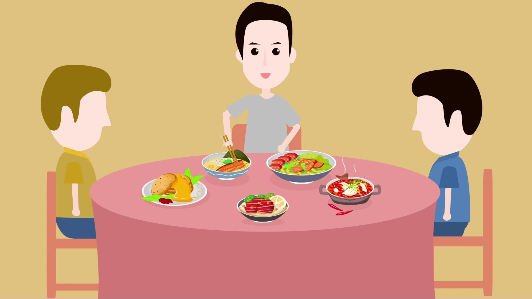 etiquette of eating meal