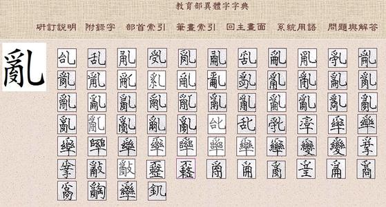 """Traditional Chinese of word """"luan"""""""