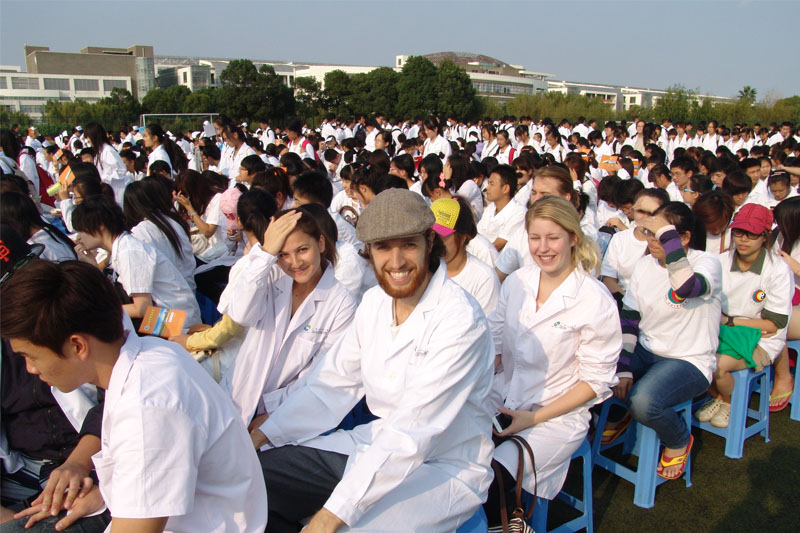 Tug-of-war-in -Shanghai-University-of-traditional-Chinese-Medicine