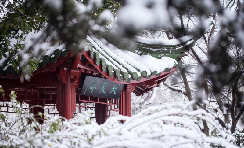Snow-scenery-of-East-China-Normal-University